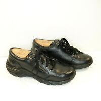 Womens NURSE MATES Vigor Black Pebbled Leather Side Zip Laces Sneakers Size 7M
