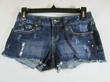 Zana Di Size 3 Juniors Blue Cut Off Shorts 5 Pockets Distressed