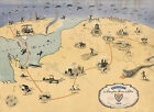 1945+WWII+Military+War+Map+ADSEC+in+Action+from+Thames+to+Rhine+U.S.+Army+Poster