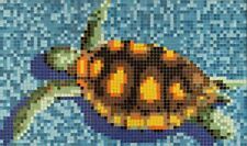 Glasmosaik Bild Schildkröte papierverklebt 160x95cm Pool Schwimmbad |MB-K35P
