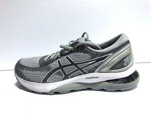 Asics Gel Nimbus 21 Womens Running Shoes Gray Size 8.5 Wide