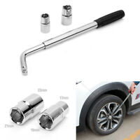 Extendable Car Wheel Lug Nut Wrench Spanner w/ 2 Sockets Auto Repair Tool Kit
