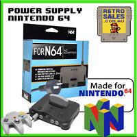 Nintendo 64 N64 Power Supply Adapter Pack Brand New Aftermarket AUS Plug