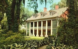 Vintage Postcard The Shadows On Teche Fabled Old Plantation Homes New Iberia LA