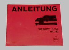 Originale Bedienungsanleitung manual f.Diaprojektor Leitz Pradovit R 152/RA 152