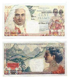 - Paper Reproduction -  Saint Pierre & Miquelon 100 Franc 1950 Pick #26a    29