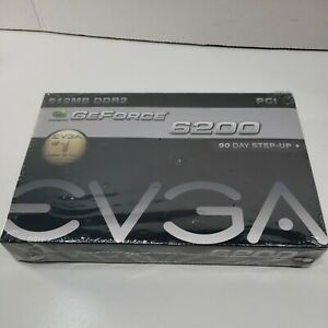 EVGA NVIDIA GeForce 6200 (512P1N402LR) 512MB DDR2 SDRAM PCI Video Card (NOS)