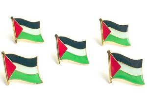 5 x PALESTINE Palestinian flag metal lapel pin badges - Free Postage