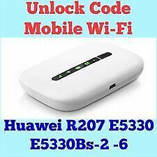 Unlock Code For Huawei R207 E5331 E5330 E5776 Mobile Wi-Fi Instantly
