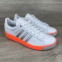 Adidas Forest Hills Originals Mens White Orange Silver Shoes Sneakers 9.5 NWOB