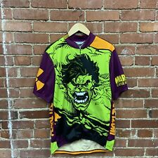 Vintage Marvel Hulk All Over Print Pearl Izumi Cycling Bike Shirt Jersey 90s