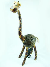 Handmade Wooden Crafts Coconut Shell Lamp Giraffe Lamp with Knock Down for Deco