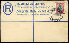 South West Africa KGV 1916 Registered Stationery Cover, Windhouk #C15681