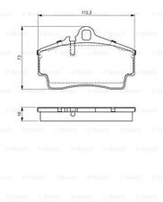 Bremsbelagsatz, Scheibenbremse für Bremsanlage Hinterachse BOSCH 0 986 494 265