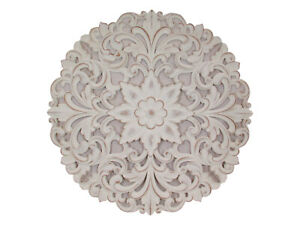New 1pce 80cm Round Filigree Designed Lattice Mandala Wall Art White