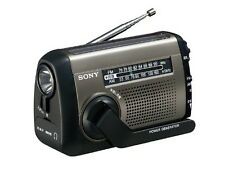 SONY Handcranked Solar Charging USB AM/FM Portable Radio ICF-B99/S With Tracking