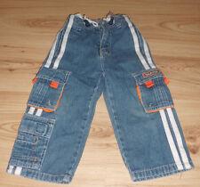 Kiki & Koko jeans pantaloni con strisce bianche e skater impresso-Taglia 92