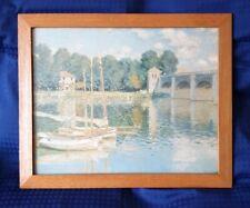 Vintage / Retro Claud Monet Print Bridge At Argenteuil - Framed - 61 x 50 cm