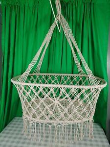 Baby Swing Macrame Tassel Hammock Hanging Bed Cradle Bed Indoor Baby Sea