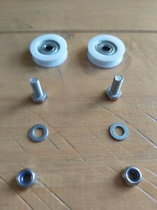 For Elite 30mm Greenhouse Door Maintenance Kit with wheels and runners.