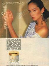 PUBLICITE ADVERTISING  1983   GERMAINE MONTEIL cosmétiques beauté