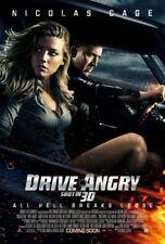 DRIVE ANGRY 2011 Original Promo Mini Movie Poster Nicholas Cage Amber Heard