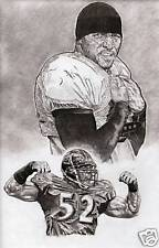 Ray Lewis Baltimore Ravens portrait poster picture ART