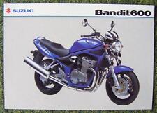SUZUKI BANDIT 600 MOTORCYCLE SALES SHEET MARCH 2004 REF- MB04GSF600