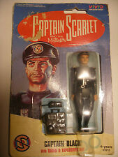 VIVID Les Sentinelles de l'Air Thunderbirds Figurine CAPTAIN SCARLET BLACK NEUF