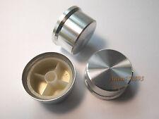 2pcs High Quality Aluminum Potentiometer Volume KNOB D36.1mm H19.3mm Silver