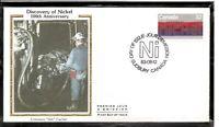 Canada SC # 996 Discovery Of Nickel Centenary FDC. Colorano Silk Cachet