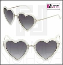 LINDA FARROW MARKUS LUPFER Heart Grey Silver Glitter ML4 Sunglasses Women