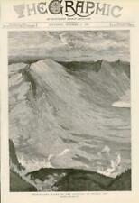 1881 - Antique Print SWITZERLAND Goldau Landslip Scene Rigi Alps 1806  (040)