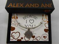Alex and Ani Because I Love You SISTER III Bracelet Rafaelian Silver NWTBC