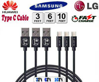 For Samsung USB Type C Fast Charger Cable Galaxy S9 S10 S20 Ultra Note 9 10 20