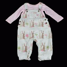NEXT Baby Girls Mädchen Fuchs Latzhose Dungarees Set Outfit 3-6 m 62/68 England