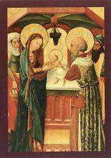 Arte antiguo tarjeta postal-rostock-Marienkirche-representación de Jesús en el templo, Simeon