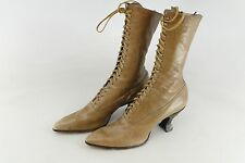 VICTORIAN LEATHER HIGH TOP SHOES LACE UP BEAUTIFUL ESTATE FIND WOMAN'S