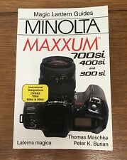 Minolta Maxxum Camera User Manual Guide Book 700si, 400si, 300si Magic Lantern