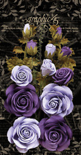 Graphic45 French Lilac & Purple Royalty Rose Bouquet (15pc) scrapbooking