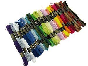 36 x Embroidery Skeins - 8m Skeins - Colourfast - 6 Strand - 100% Cotton
