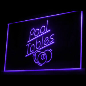 230007 Pool Tables Socializing Room Amusement Hall Display Neon Sign