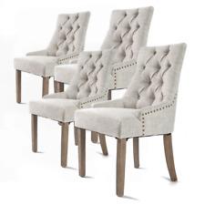 La Bella French Provincial Oak Leg Amour Chair , Cream - 4 Set