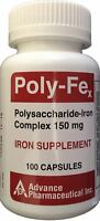 Polysaccharide Iron Complex 150mg Iron Supplement 100 Capsules per Bottle
