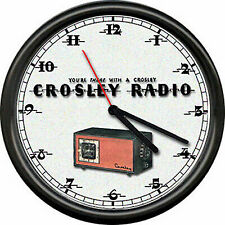 Crosley Tube Radio Dealer Service Sales Sign Wall Clock