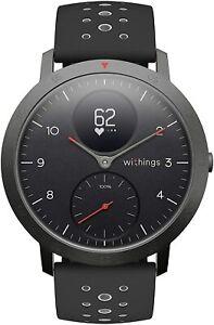 Smartwatch Uhr Withings Steel Hybrid Multi Sport Tracking Herzfrequenz schwarz