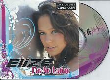 ELIZE - I'm no latino CD SINGLE 3TR Enh Europop 2005 CARDSLEEVE Belgium