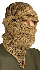 New Large 180x80cm Coyote Tan Scrim Net Scarf