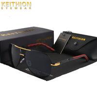 KEITHION Men Polarized Oval Sunglasses Classic Driving Fishing Oversized Glasses