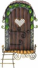 Fountasia Mignon Porte Fées avec Coeur Fenêtre & Échelle Métal Jardin Cadeau